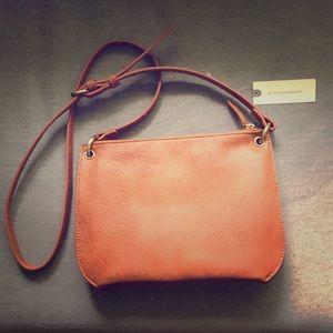 Anthropologie crossbody bag (honey brown)